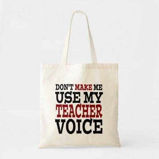 Zazzle Funny Teacher Voice Tote Bag