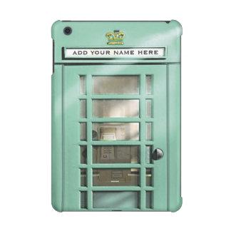 Funny Teal British Phone Box Personalized iPad Mini Covers
