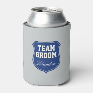 Funny Team Groom can coolers for wedding party