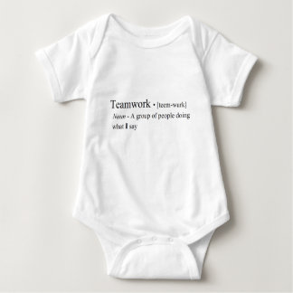 Funny Teamwork Products Baby Bodysuit