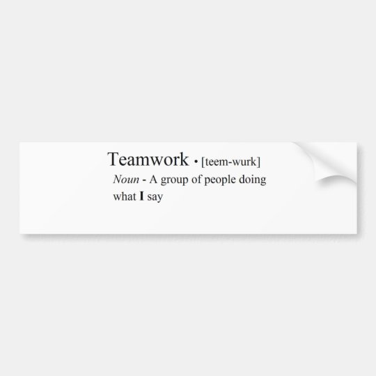 Funny Teamwork Products Bumper Sticker