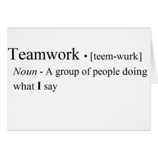 Funny Teamwork Products Greeting Card