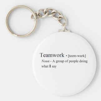 Funny Teamwork Products Keychain