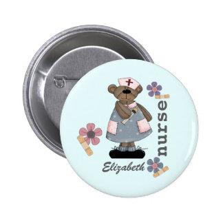 Funny Teddy Bear Design Custom Nurse Buttons