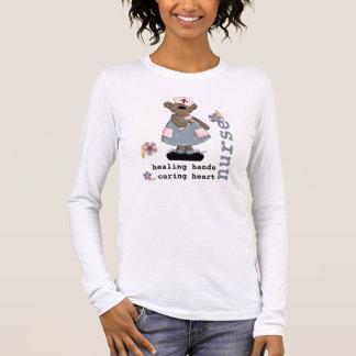 Funny Teddy Bear Design Nurse T-Shirts