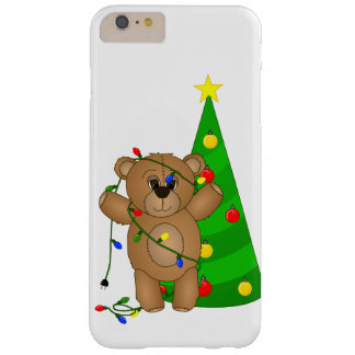 Funny Teddy Bear Tangled in Christmas Lights Barely There iPhone 6 Plus Case