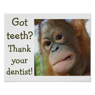 Funny Teeth Humor special request Poster