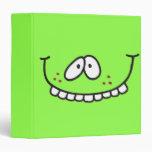 funny teeth smiley green notebook binder