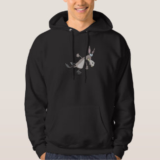 funny temper tantrum donkey cartoon hooded pullovers