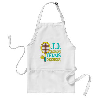 Funny Tennis Adult Apron