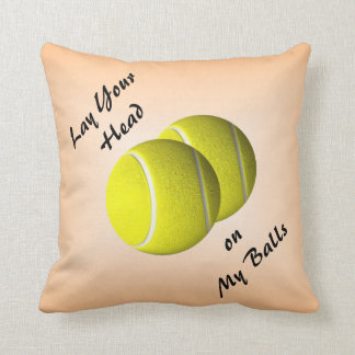 Funny Tennis Ball Mojo Throw Pillow