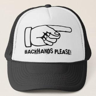 Funny Tennis Cap / Hat to practice backhands