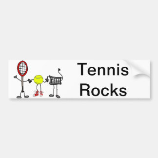 Funny Tennis Characters Cartoon Art Bumper Sticker