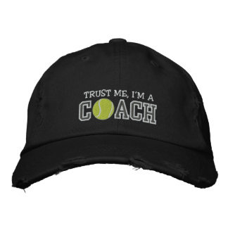 Funny Tennis Coach Embroidered Baseball Cap