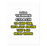 Funny Tennis Coach T-Shirts and Gifts Postcard