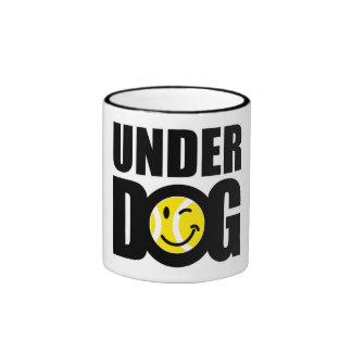 Funny tennis gift with humorous slogan saying ringer mug