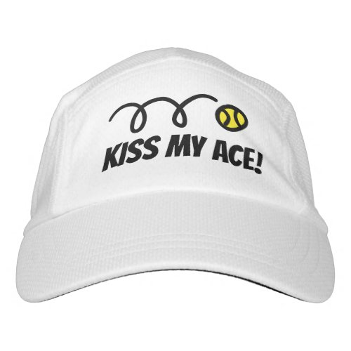 Funny tennis hat for men and women _ Kiss my ace