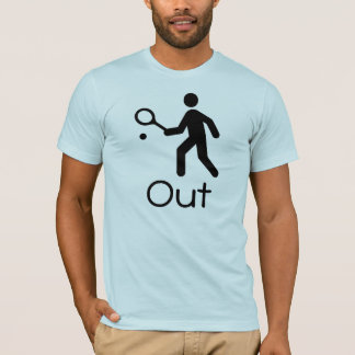 "Funny Tennis ""OUT"" T-Shirt"