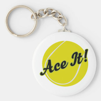 Funny Tennis Player Gift Keychain