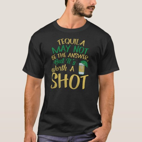 Funny Tequila Party Shot Drinking T_Shirt