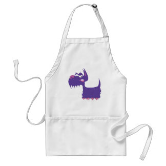 Funny Terrier Adult Apron