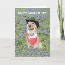 Funny Texas Father's Day Card