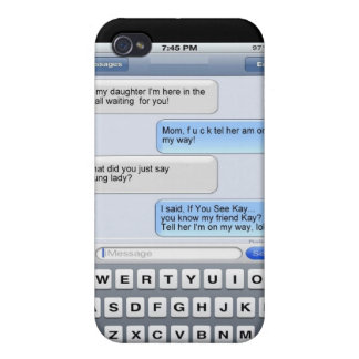 Funny Text Messages iPhone 4/4S Cover