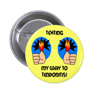 Funny texting pinback buttons