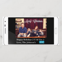 Funny Texting Christmas Horizontal Holiday Card