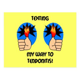 Funny texting postcard