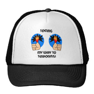 Funny texting trucker hat