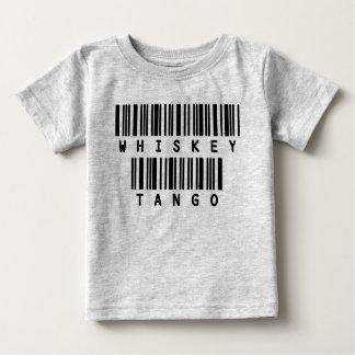 Funny texts baby t shirt Whiskey Tango
