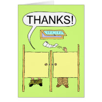 Funny Thank You Card: Toilet Paper