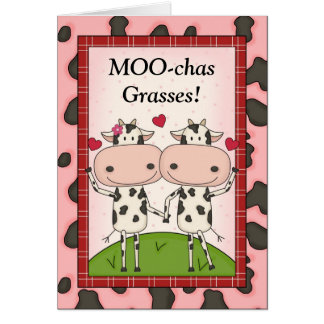 Funny Thank You - Cows Cards