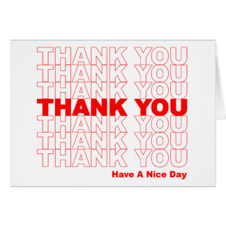 Funny Thank You Design Card