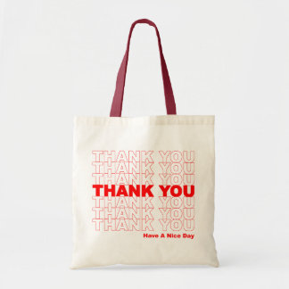 Funny Thank You Design Tote Bag