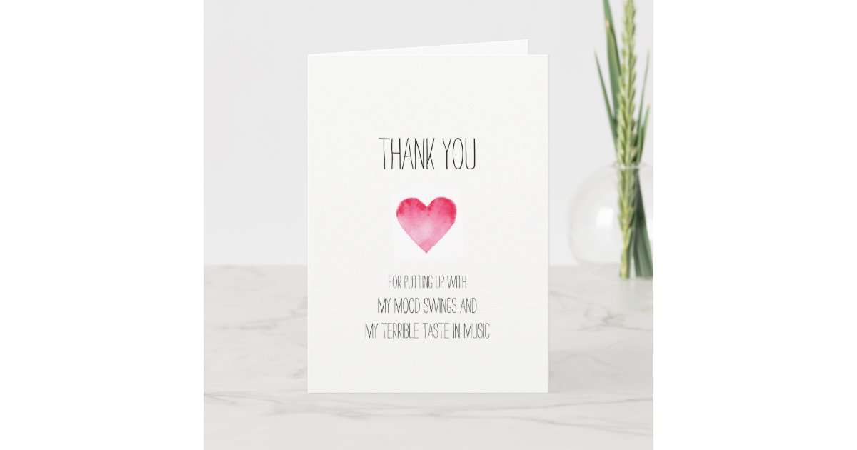Funny thanks for putting up with me Valentines Thank You ... |Funny Valentine Thank You Signs