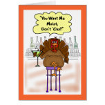 Funny Thanksgiving Card:  Moist Turkey Card