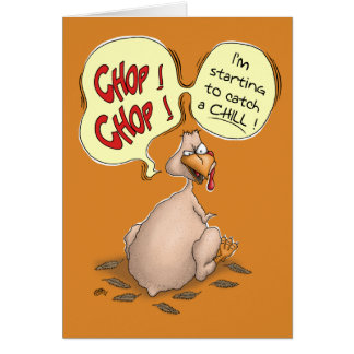 Funny Thanksgiving Cards: Chop-Chop Card