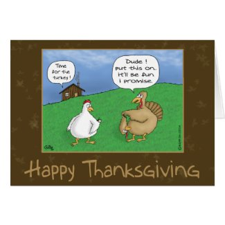 Funny Thanksgiving Cards: Fun and Games
