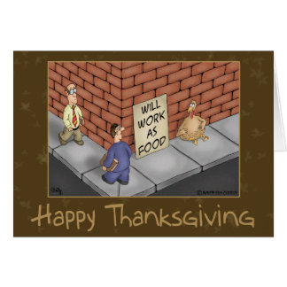 Funny Thanksgiving Cards: It's a Turkey Economy Greeting Card