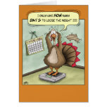 Funny Thanksgiving Cards: Stuffed Greeting Card