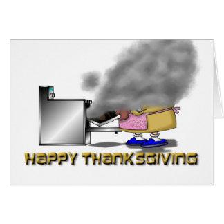Funny Thanksgiving Cartoon Card