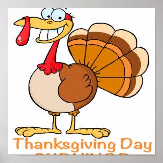 funny thanksgiving day survivor turkey poster