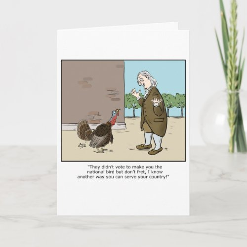 Funny Thanksgiving greeting card from Crowden Satz