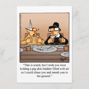 Funny Thanksgiving Humor Dinner Invitations