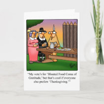 Funny Thanksgiving Humor Greeting Card