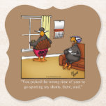 Funny Thanksgiving Humor Paper Coaster
