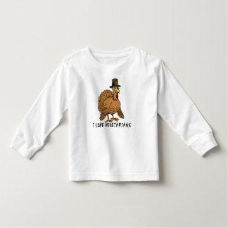 Funny Thanksgiving I Love Vegetarians Turkey Humor T-shirt
