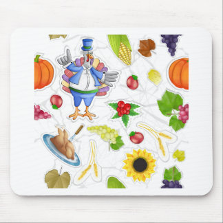 funny thanksgiving mouse pad